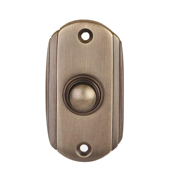 Wired Brass Doorbell Chime Push Button in Antique Brass Finish Vintage Decorative Door Bell with Easy Installation