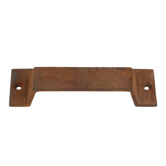 Set of 10, Bin Pull Heavy Duty Vintage Decorative Drawer Pull in Rust Finish for Furniture Cabinets Doors Bins