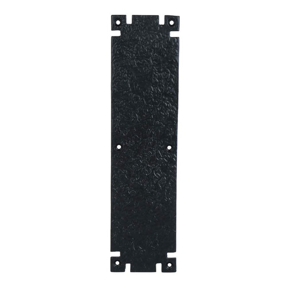 Push Plate with Black Powder Coat Finish Heavy Duty Easy Installation Hardware Sold as Each