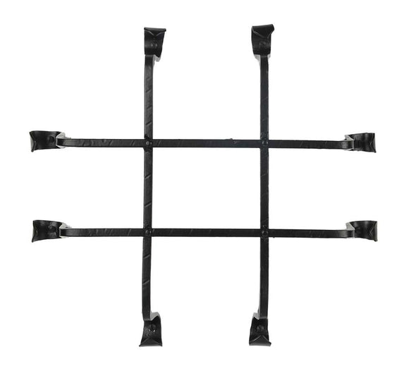 A29 Flared Squared Bar Speakeasy Door Grill/Grille, Black Powder Coat Finish. 11 3/4 Inches(L) X 12 1/4 Inches(H).