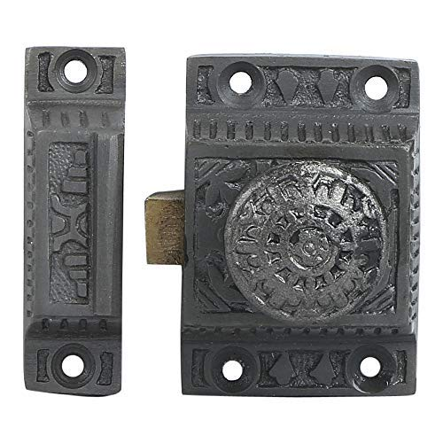 Iron Cabinet Latch Handmade Antique Iron Finish Latch for Cabinet Closet Kitchen Door Windsor Design Sold as Each
