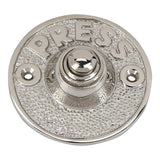 A29 Brass Bell Push Button, Polished nickel Finish