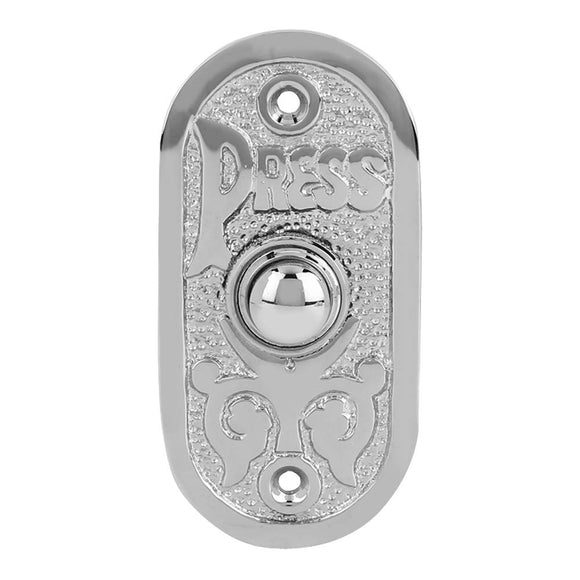 Wired Iron Doorbell Chime Push Button Vintage in Black Powder Coat Finish Vin...