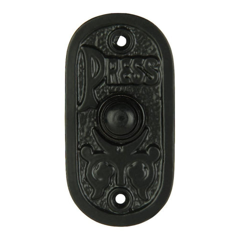 A29 Bell Push Button, Black Powder Coat Finish