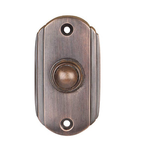 Wired Brass Doorbell Chime Push Button in Oil Rubbed Bronze Finish Vintage Decorative Door Bell with Easy Installation