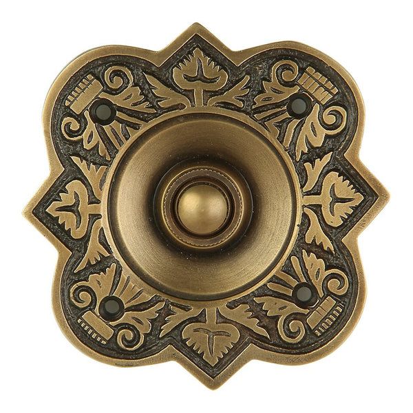 A29 Bell Push Button, Antique Brass Finish