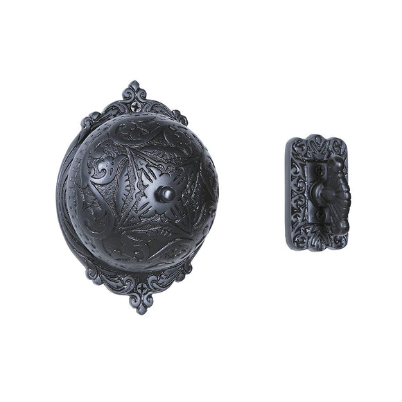 A29 Twist Hand-Turn Solid Brass Wireless Mechanical Doorbell Chime in Oil Rubbed Bronze Finish Vintage Decorative Antique Victorian Door Bell with Easy Installation