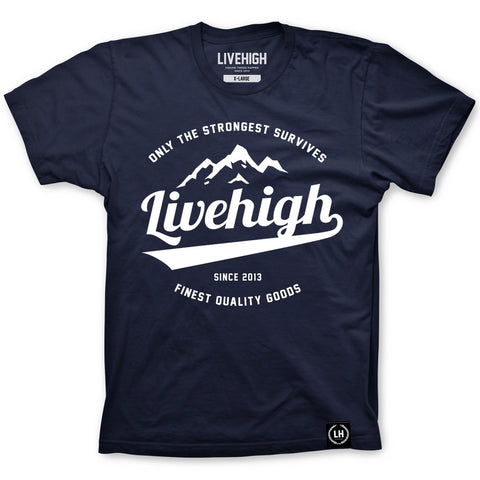 LH.OTSS MOUNTAIN T-SHIRT (NAVY) - LIVEHIGH