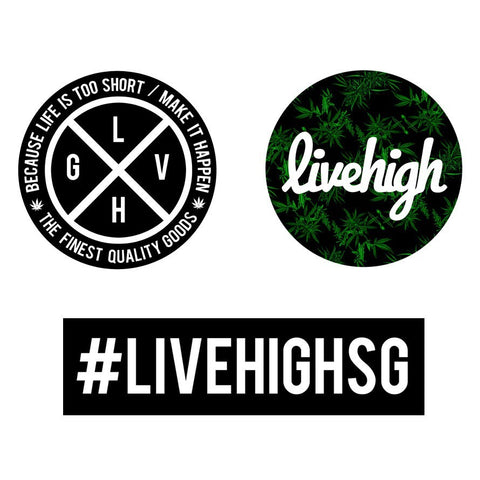 STICKER PACK (3) - LIVEHIGH