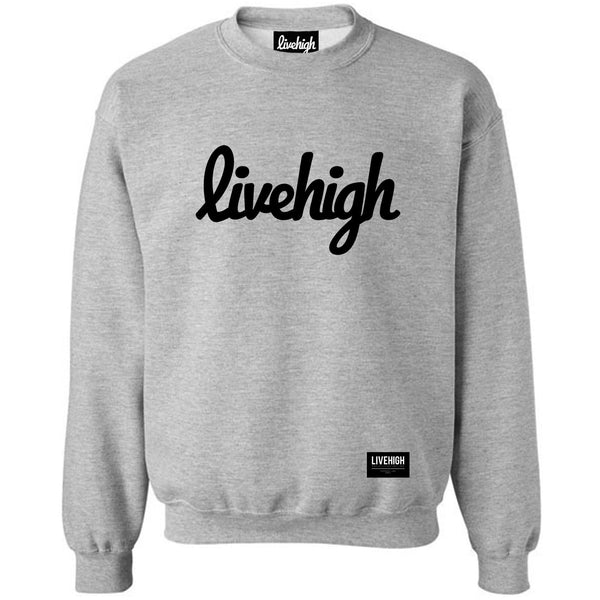 LIVEHIGH.SCRIPT SWEATSHIRT (HEATHER GREY) - LIVEHIGH