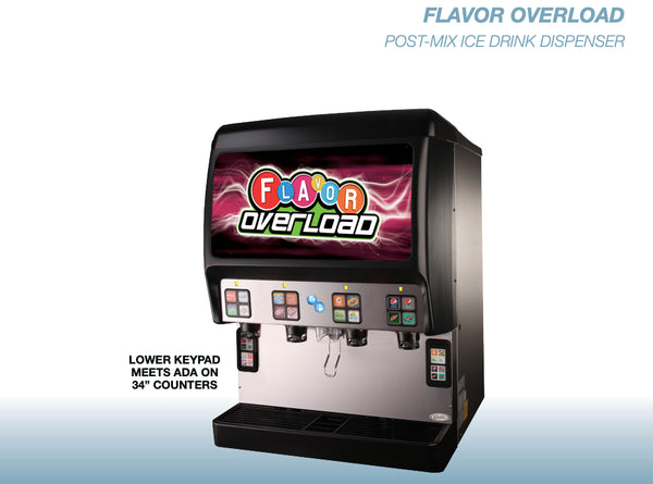 Cold Carbonation Fountain Soda Dispenser With 16 MFV Valves Available At Organic Soda Pops
