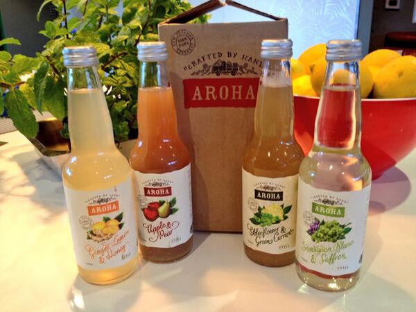 Aroha Natural Sodas available at Organic Soda Pops