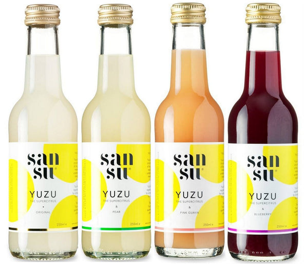 Sansu Premium Yuzu Fruit Drinks available at Organic Soda Pops