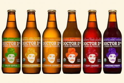Doctor D's Sparkling Probiotic Organic Soda is available at Organic Soda Pops