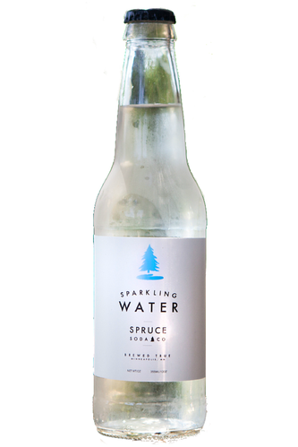 Sparkling Water made by Spruce Soda company is available at Organic Soda Pops