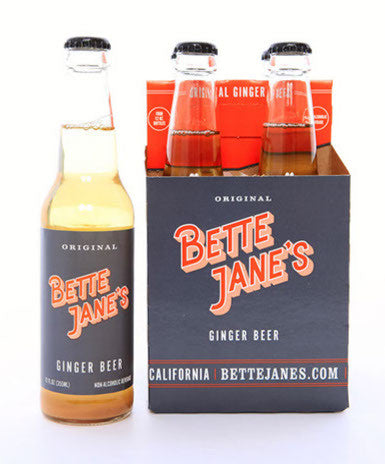 Bette Jane's Natural Ginger Beer available at Organic Soda Pops