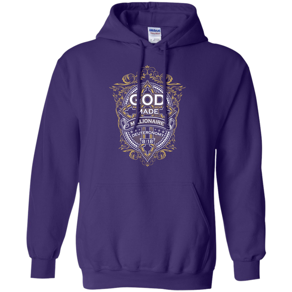 Mens Hoodie | God Made Millionaire ® | Cross Series | 8 oz Gildan Pullover Hoodie (Multiple Colors)