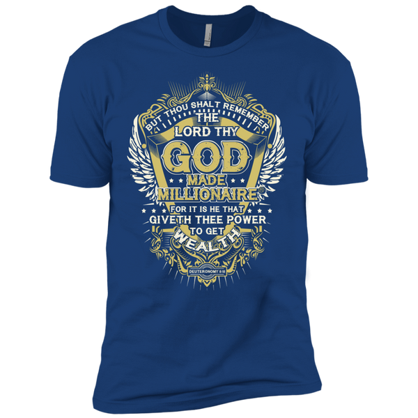 Mens Next Level Premium EXTREME Softness | God Made Millionaire® Gold Design On Front Only
