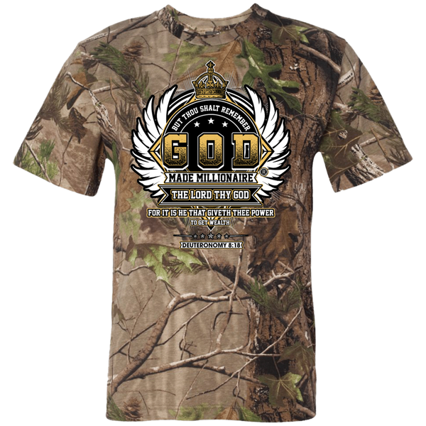 Mens Short Sleeve Camouflage TShirt Crown Logo