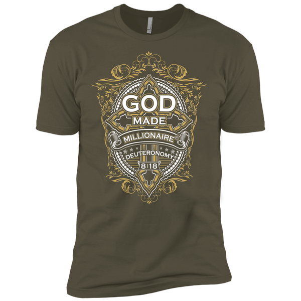 Mens Next Level Premium EXTREME Softness | God Made Millionaire® Cross Series Design On Front Only