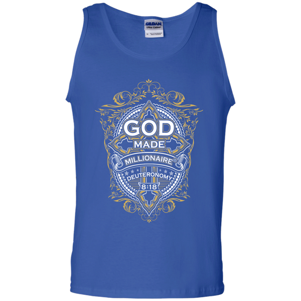 Mens Tank Top | Gildan | 100% Cotton | Gold Cross