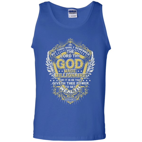 Mens Tank Top | Gildan | 100% Cotton | Gold Logo