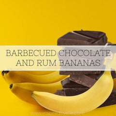 Unique Recipe Barbecued Chocolate and Rum Bananas by Elle Smith Creativity in the Kitchen Inspired By Elle