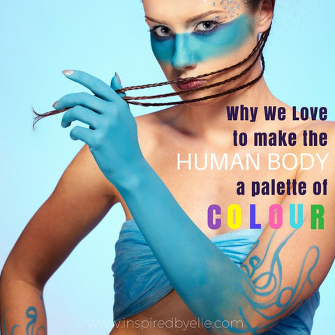Elle Blog Why We Love to make the human Body a Palette of Colour by Elle Smith Inspired By Elle