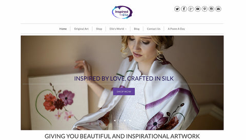 new website inspired by elle artist creative