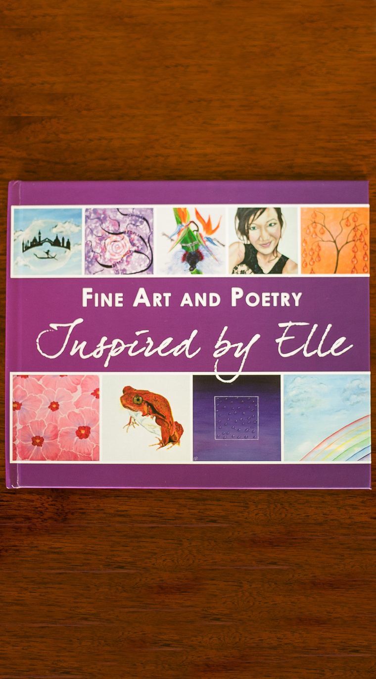 Art Portfolio Book Elle Smith with poetry Inspired By Elle Luxury Gift