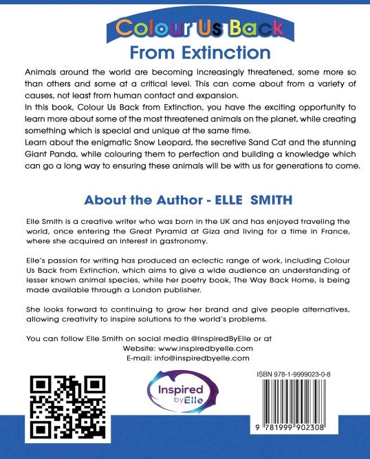 Back Cover Colour Us Back From Extinction by Elle Smith