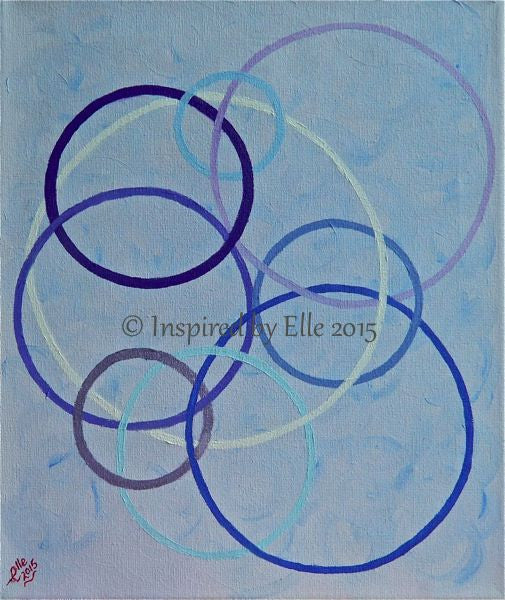 Abstract Art Painting Connecte en Cercles by Elle Smith - UK Artist Inspired By Elle contemporary art paintings
