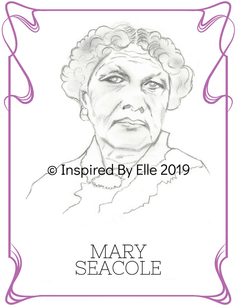 Colour Us Back from History Women - Image sketch of Mary Seacole by Elle Smith
