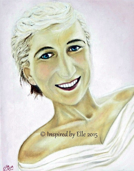 Portrait Art Fairytale Princess Oil Painting Inspired By Elle Smith female celebrity art painting