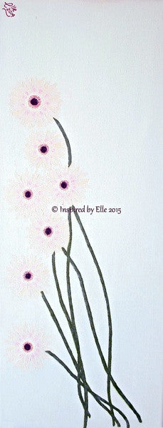 Flower Art Painting Lazy Daisies by Elle Smith Inspired By Elle
