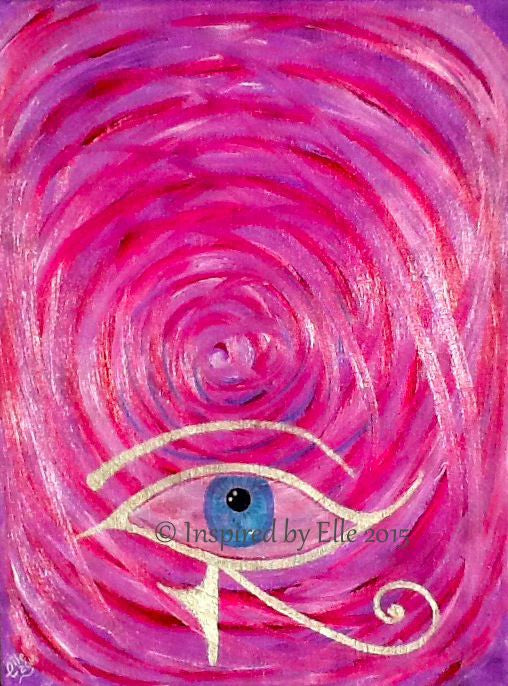 Abstract Art  Painting The All Seeing Eye Elle Smith Artist Inspired By Elle