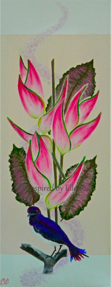 Flower art Heliconia Delight by Elle Smith Tropical Collection Oil Painting Inspired By Elle