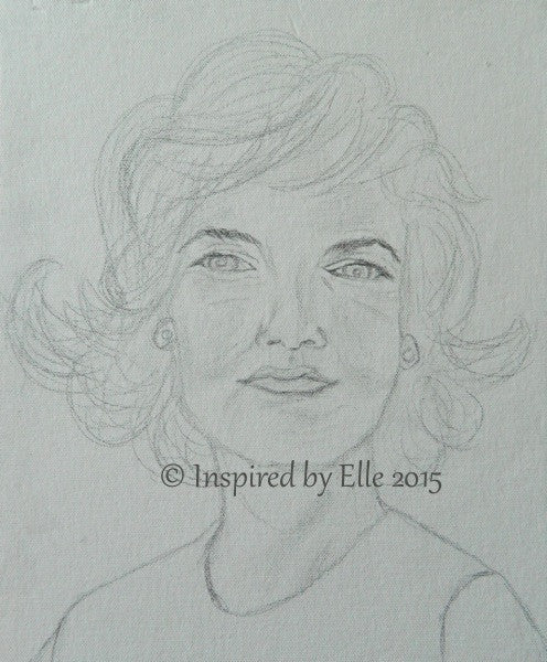 Charcoal Pencil Sketch Sketch G Guess Who Elle Smith Celebrity Female Inspired by Elle