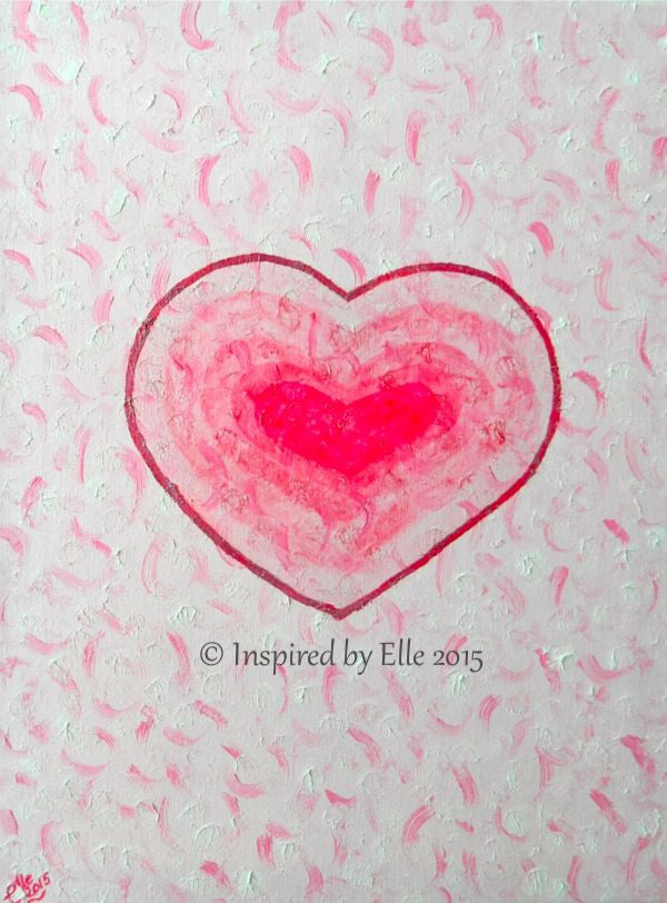 Abstract Art Painting Layers of my Heart by Elle Smith UK Artist Inspired By Elle