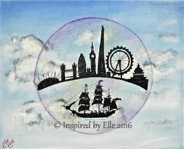 London in a Bubble art painting by Elle Smith Inspired by Elle
