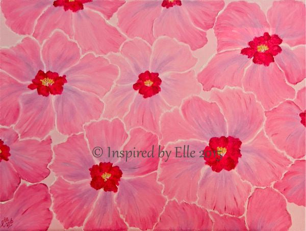 Love in Pink abstract art painting flower art oil paint inspired by Elle Smith Artist