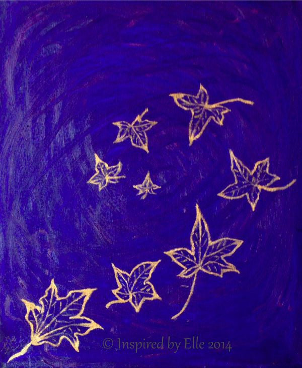 Abstract Art Painting - A Whirlwind of Autumn Leaves by Elle Smith Artist Inspired By Elle