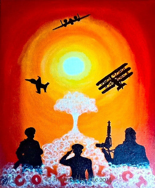 The Sun never sets on Conflict Elle Smith Conceptual Art War Inspired By Elle