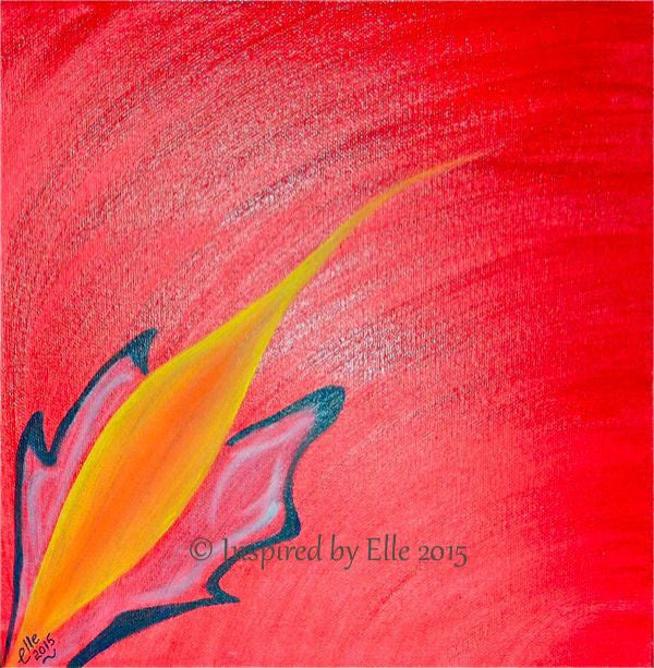 Commercial Art Painting Red Ignition Oil Paint inspired by Elle Smith London Artist