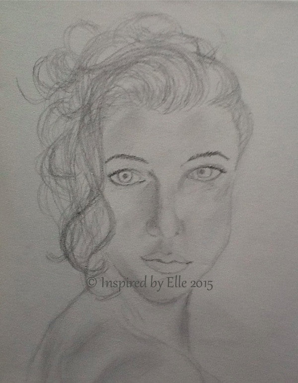 Sketch E Guess Who Elle Smith Pencil Sketch Art Drawing Inspired by Elle