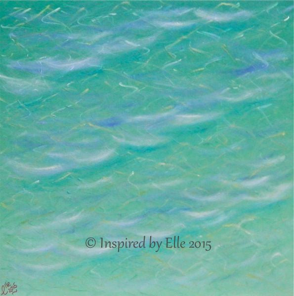 Commercial Art Painting Sea of Tranquility Oil Paints Pastels by Elle Smith Inspired By Elle