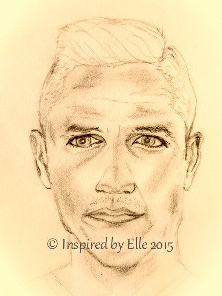 Footballer Charcoal Pencil Sketch J Elle Smith Guess Who Inspired by Elle Forward