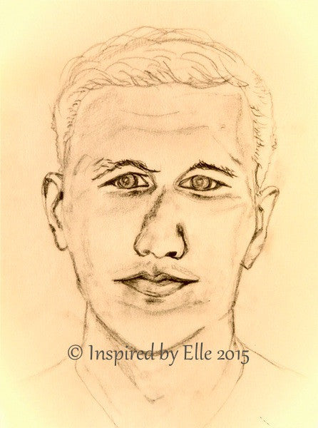 Sketch L Guess Who Elle Smith Footballer Celebrity charcoal pencil sketch