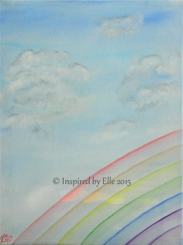 Somewhere Over the Rainbow abstract art painting Elle Smith Abstract oil paint Inspired By Elle