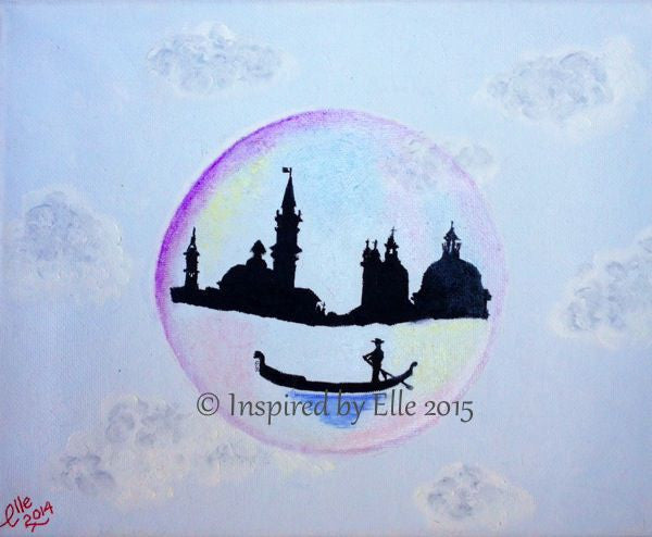 Venice in a Bubble oil painting Elle Smith Bubble Art Inspired By Elle